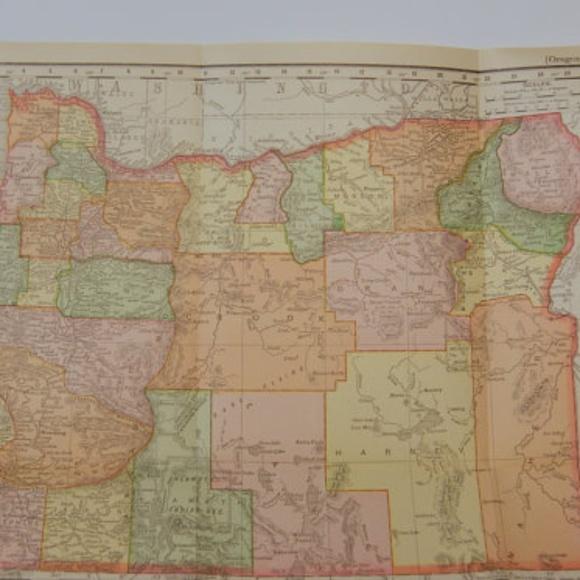 Vintage Oregon Map.Other Vintage Original 1895 Oregon Map Poshmark